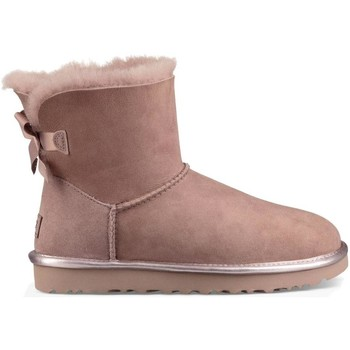 Snowboots UGG MINI BAILEY BOW METALLIC II DUSC